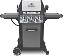 Broil King Gas Barbacoa Monarch 390 Plata Uni-Ball Cast Carcasa de Aluminio Fundido con Tapa de Acero Inoxidable de Inlay monarchtm