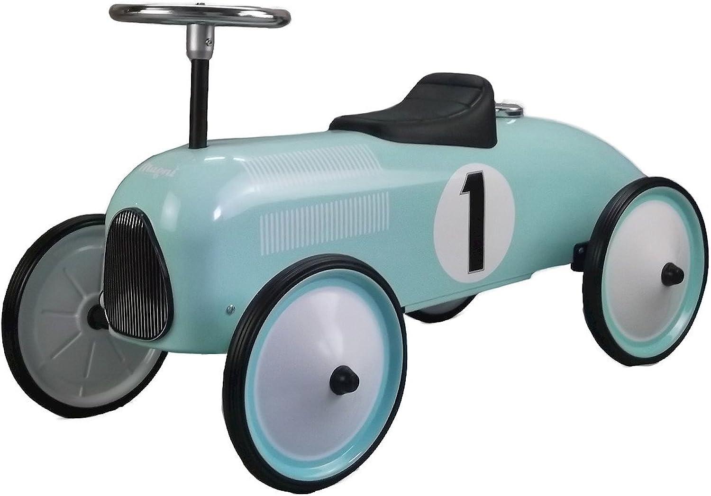 Unbekannt Magni Rutschauto Tretauto Rutscher Kinderfahrzeug aus Metall Racer türkis Petrol