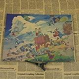 panggedeshoop Miyazaki Toshio Set Dibujos Animados Anime Animación Cartel De Película Bar Dibujos Animados Decoración De La Habitación De Los Niños Pintura 50X70Cm -Sz3284