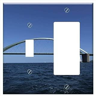 1-Toggle 1-Rocker/GFCI Combination Wall Plate Cover - Fehmarn Baltic Sea Bridge Bird Route Island S