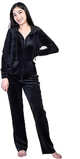Women's Velour Tracksuits 2 Piece Outfits Hoodie & Sweatpants Sweatsuit Set