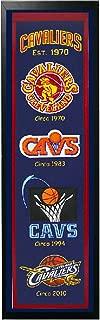 Encore Cleveland Cavaliers Logo History Felt Banner - 14 x 37 Framed