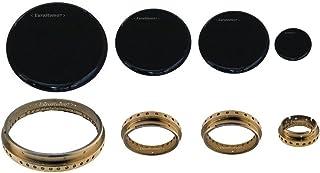 kit para quemadores de cocina de gas Samet - anillas + tapas de laton, 4 piezas