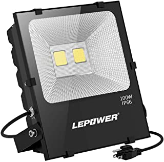 LEPOWER 100W LED Flood Light Outdoor, Super Bright Outdoor Work Light, 500W Halogen Bulb..
