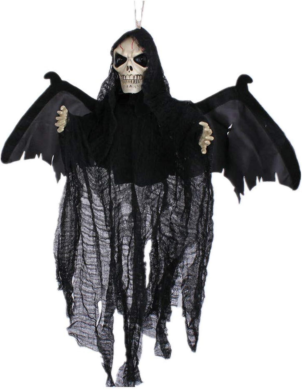 Zicue Humorvolle Maske Maskerade Prom Maske Halloween Toy Hanging Ghost Neue sprachaktivierte Goblin Bat Site schmücken Horror Bar KTV Spukhaus Dekoration Requisiten, black ( Farbe   Black )