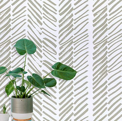 Guvana Stripe Peel and Stick Wallpaper Brown White Wallpaper Stripe Contact Paper 118