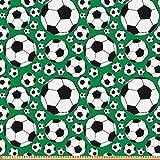 ABAKUHAUS Fußball Stoff als Meterware, Sportmotiv,