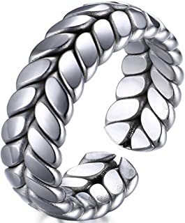 Platinum Mens Womens Wedding Simple Adjustable Bands Titanium Steel Opening Promise Rings Comfort Fit Size 6-8