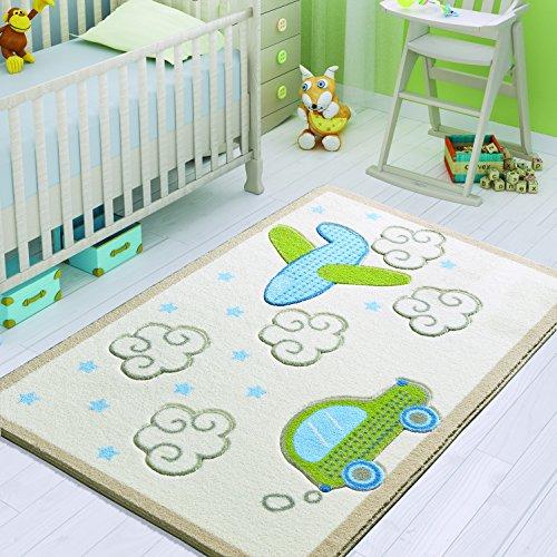 Confetti 331-0545-0086-01 Tappeto Bambino, Poliammide, Blu Verde, 150x100x1 cm