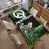 PVC Waterproof Oil-Proof Reusable Tablecloth Sword Ninja-Genji Rectangular Tablecloth Washable Table Cover for Kitchen Restaurant Camping 60'x108'