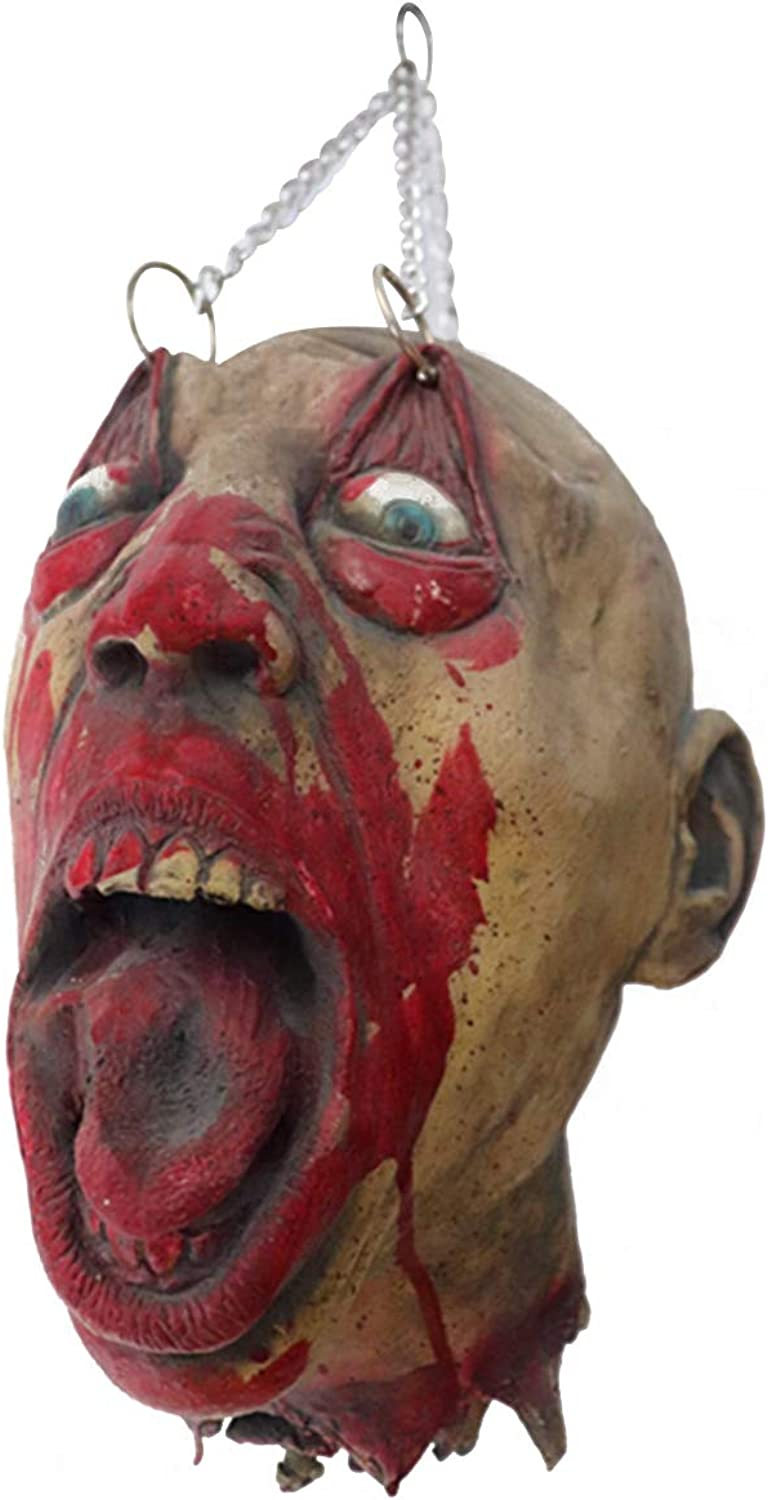 Amosfun Horror mask Scary Latex mask Masquerade Skeleton Zombie costumeMardi Gras Party Cosplay Decoration Photo Booth Props