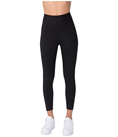 YEAR OF OURS Ribbed Jogger Leggings (Black) Women