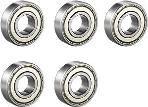uxcell 6004ZZ Deep Groove Ball Bearing Double Shield 6004-2Z 80104, 20mm x 42mm x 12mm Chrome Steel Bearings, 5-Pack