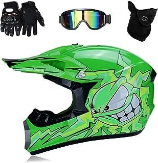 TKUI Motos Motocross Cascos y Guantes y Gafas estándar para