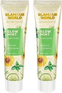 Glamour World Ayurvedic Glow Mint Moisturiser | Pack of 2- For Acne Prone Skin