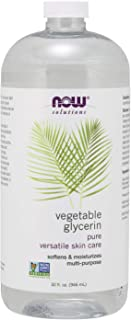 NOW Solutions, Vegetable Glycerin, Softens & Moisturizes Skin, Multi-Purpose Use, 32-Ounce