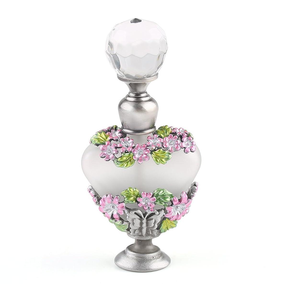 まっすぐ堤防飲食店VERY100 高品質 美しい香水瓶/アロマボトル 5ML アロマオイル用瓶 綺麗アンティーク調 フラワーデザイン プレゼント 結婚式 飾り 58778
