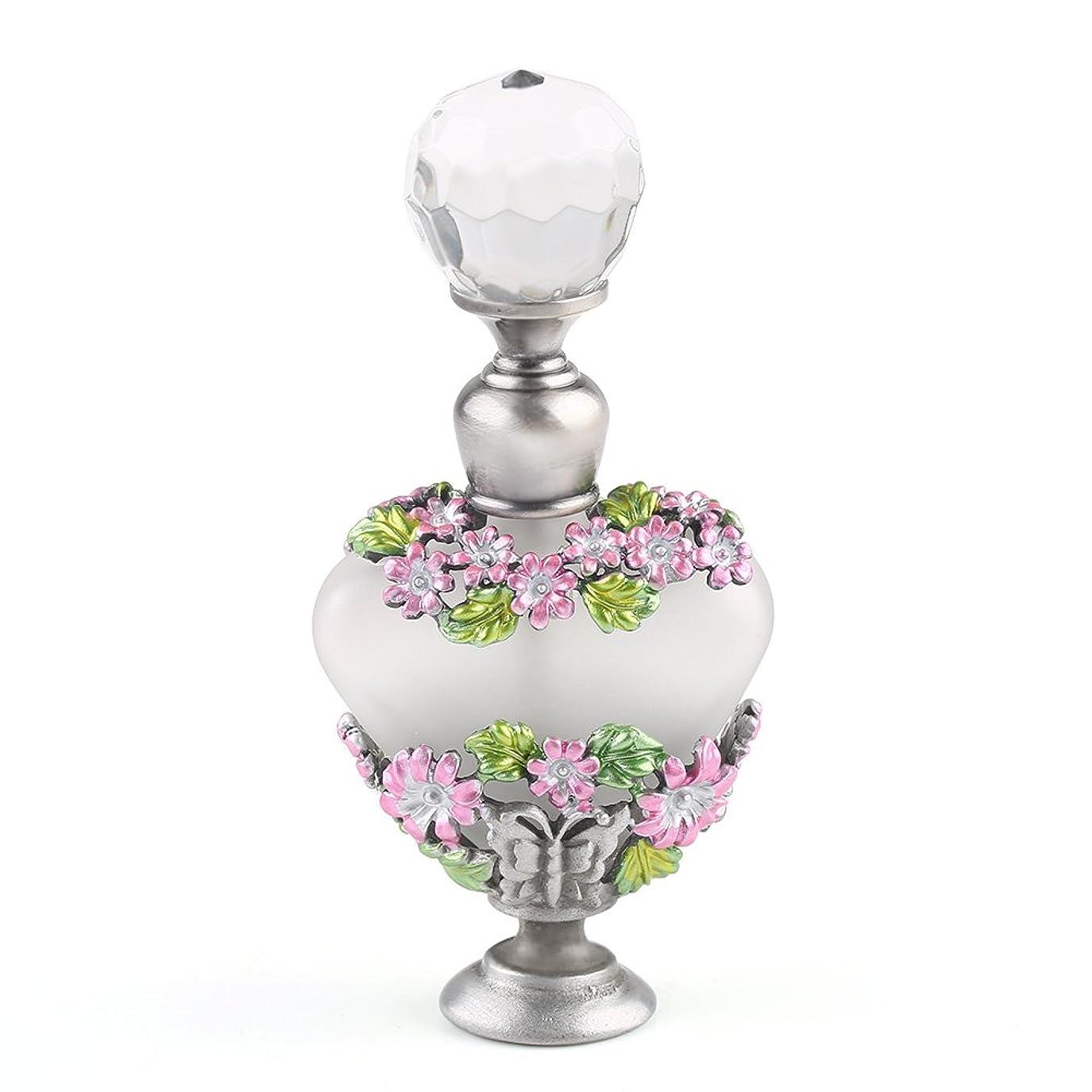カラス上級先例VERY100 高品質 美しい香水瓶/アロマボトル 5ML アロマオイル用瓶 綺麗アンティーク調 フラワーデザイン プレゼント 結婚式 飾り 58778