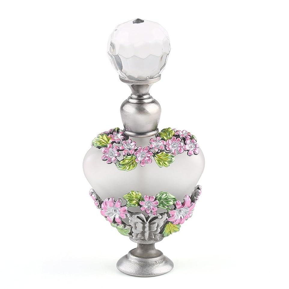 排気トンネルミニチュアVERY100 高品質 美しい香水瓶/アロマボトル 5ML アロマオイル用瓶 綺麗アンティーク調 フラワーデザイン プレゼント 結婚式 飾り 58778