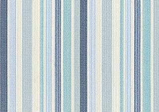 Raumausstatter.de VOLTURNO 3175 - Tela para tapizar (poliacrílico y teflón), diseño de Rayas, Color Azul
