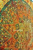 FUTURE HANDMADE Taille jumelle Orange Étoile Jaune Tie Dye Mandala tapisserie hippie Bohemian tapis de yoga drap de lit 100% coton Accueil Décor Couvre-lit