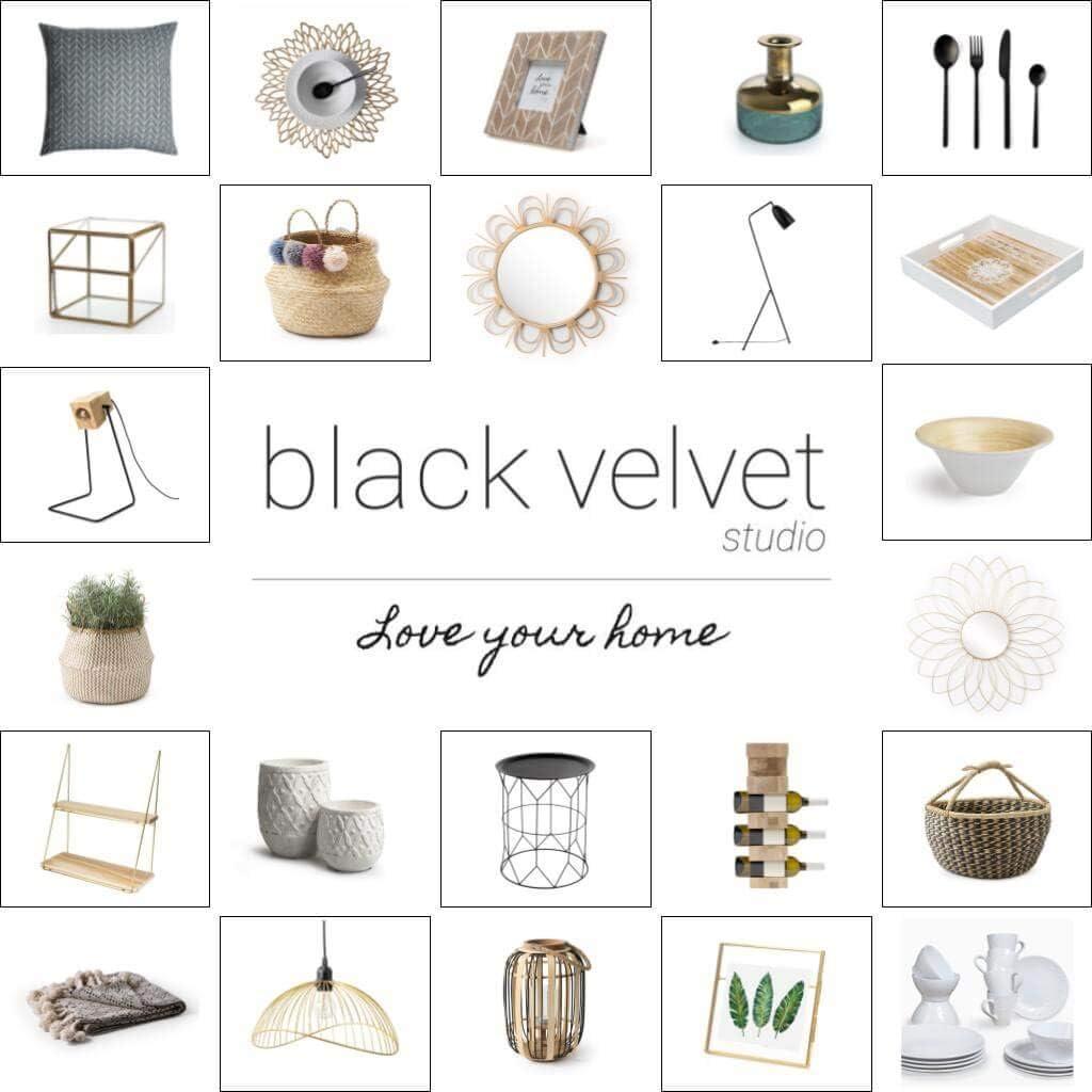 Nordique Style Ethnique Black Velvet Studio Miroir Flor Round Mural d/écoratif rotin Naturel 40x40x2 cm. Coleur Naturel pour Salle de Bain ou Hall dentr/ée rotin