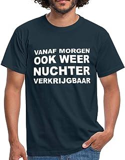 Spreadshirt Nuchter Grappige Koningsdag Mannen T-shirt
