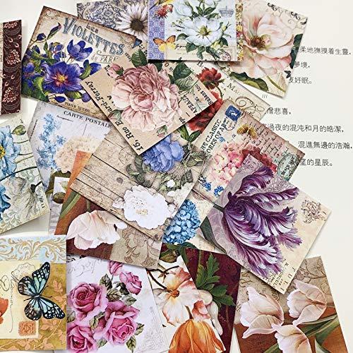BLOUR Hand Account Retro bloemenmateriaal leuk zoutsysteem doorschijnend en papieren stickers Hand Account materiaal