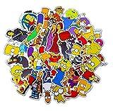 ZJJHX Divertido Anime Cartoon Simpsons Graffiti Pegatinas para Coche Motocicleta y Maleta Cool Laptop Stickers Skateboard Kids Stickers 50Pcst
