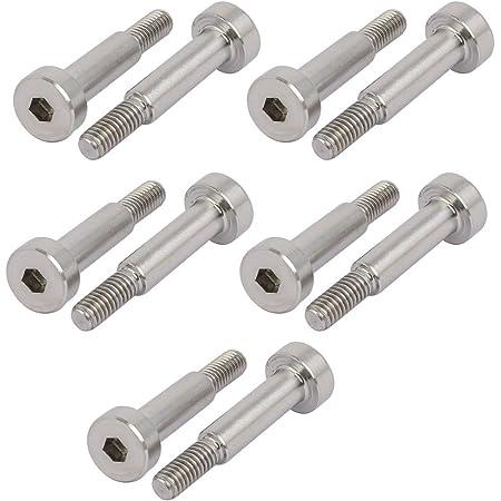 uxcell 304 Stainless Steel Hex Socket Shoulder Bolt 13mm Shoulder Dia 30mm Shoulder Length M10 Thread 5PCS