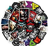 DZCYAN 50PCS New Witcher Game Stickers Sets Anime Sticker Lot for Laptop Bicycle Phone Guitarl Cartoon Stickers Pack