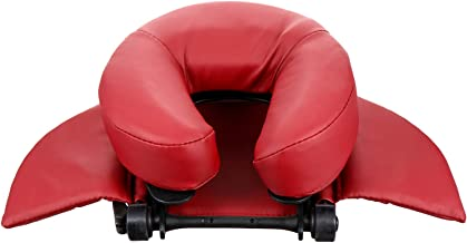 وسادة وجه من أووتنيس مسند رأس تدليك الوجه وسادة مسند مسند للوجه مسند الرقبة وسادة لقيلولة المكتب تدليك السرير الأحمر الداكن
