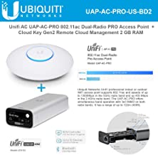Unifi AC PRO UAP-AC-PRO 802.11ac Dual-Radio Wireless Access Point with UniFi Cloud Key Gen2 UCK-G2 Remote Cloud Management 2 GB RAM