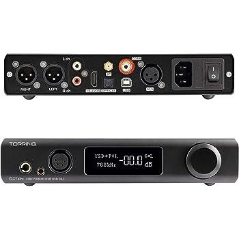 Topping DX7 Pro ES9038Pro DAC Bluetooth 5.0 32 bit / 768 kHz DSD1024 LDAC ad alta risoluzione decoder Amplificatore per cuffie (Nero)