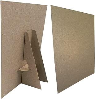 8 1/2 x 11 Kraft Cardboard Easel Display Stand, (Pack of 25)