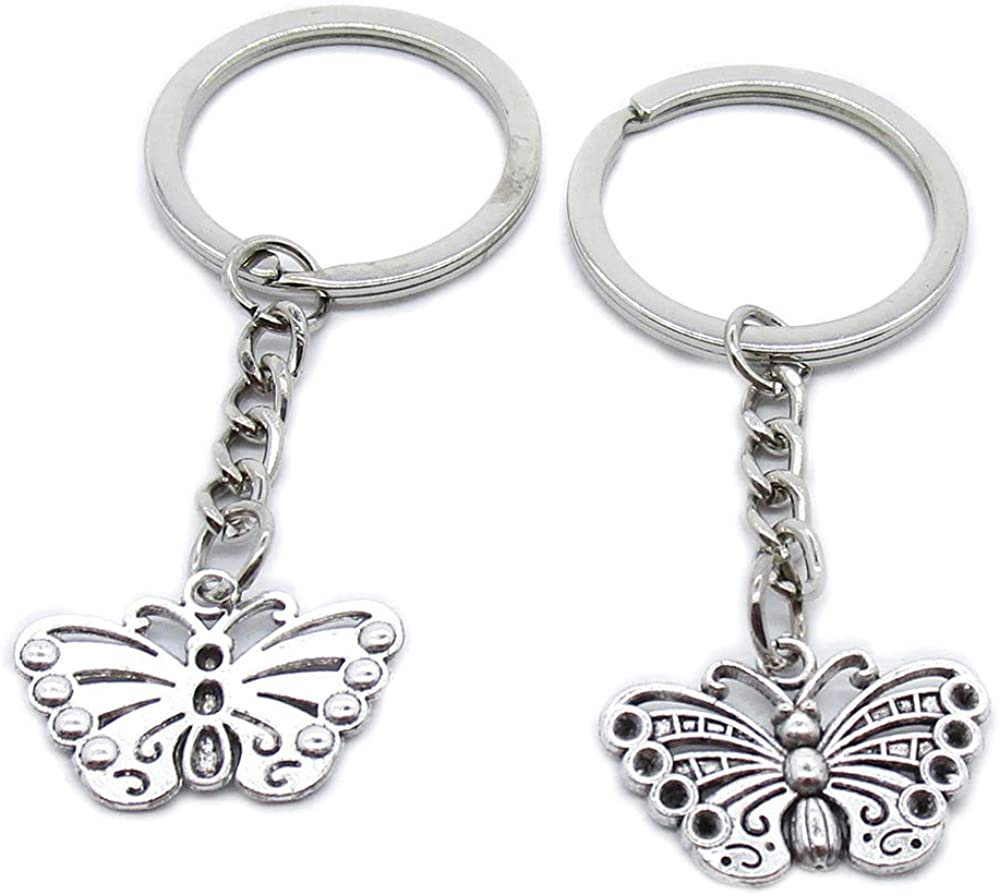 Antique Silver Inventory cleanup selling sale Plated Keyrings Keychains Key TY1M0 Butterfly Rin Max 55% OFF