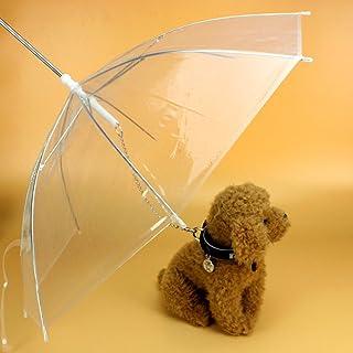 EMVANV Paraguas de perro con correa fácil de ver