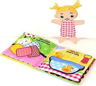 Libro de tela de tacto y tacto ultra suave para bebés,
