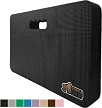 Gorilla Grip Original Premium Thick Kneeling Pad, Comfortable Foam Mat to Kneel On, Knee Pad Cushion for Gardening, Yard Work, Yoga, and Bath Room Floor for Baby Bath, 17.5 x 11 Inch x 1.5 Inch, Black