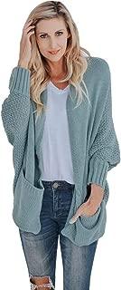 Loosebee◕‿◕ Women Sweater,Womens Open Front Batwing Long Sleeve Chunky Cardigan Sweaters Oversized Knit Jackets