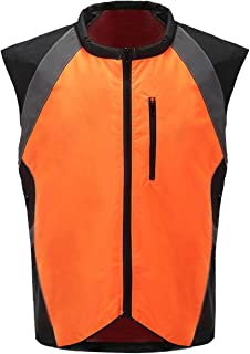 A-SAFETY Hi Vis Reflective Motorcycle Safety Vest. Fits Over Jacket, Zip Front, Pocket Yellow, Orange , M L XL 2XL