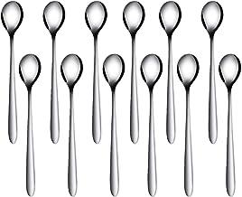 Viesap Sked, rostfritt stål sked set med 12, efterrättsskedar, kaffesked, soppsked, middagssked, tesked, glassked, silver.