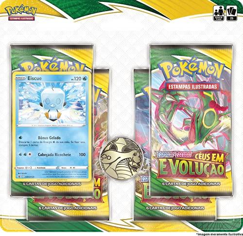 Blister Quadruplo Pokémon Eiscue Espada e Escudo 7 Céus em Evolução