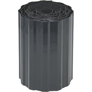 com-four® Rasenkante aus Kunststoff - Beeteinfassung für Rasen, Blumenbeet oder als Mähkante - Länge individuell anpassbar