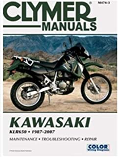 Clymer Manual de reparo para Kawasaki KLR650 KLR-650 87-07