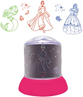 Lexibook NLJ030DP Nightlight, Luminous projections on The Ceiling, Disney Princess Icons, Kids Bedroom lamp, Colour Decora...