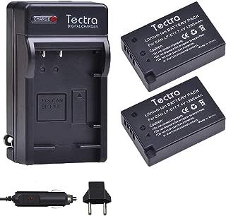 Tectra LP-E17 Battery (2-Pack) and Car/Wall Charger for Canon LPE17 and EOS Rebel T7i, T6i, T6s, SL2,EOS M6, M5, M3, 77D, 750D, 760D, 800D, 200D, 8000D, KISS X8i Cameras