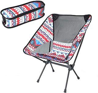 Nrkin Inklapbare campingstoel, ultralichte campingstoel, tuinstoel, campingstoel, compact, klapstoel, visstoel, draagbare ...
