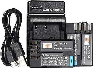 DSTE D-Li109 カメラバッテリー 2個 と USB 急速充電器 対応機種 Pentax K-R K-30 K-50 K-500 K-2 K-S2 K-S1