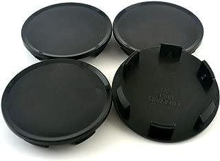 51mm Black ABS Car Wheel Center Hub Caps Base Set of 4